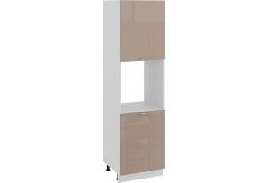 Шкаф-пенал под бытовую технику с двумя дверями «Весна» (Белый/Кофе с молоком)