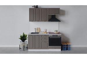 Кухонный гарнитур «Бьянка» длиной 160 см со шкафом НБ (Белый/Дуб серый)