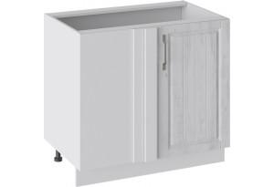 Шкаф напольный с планками для формирования угла (ПРОВАНС (Белый глянец/Санторини светлый))