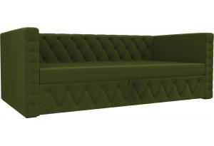 Детская кровать Таранто Зеленый (Микровельвет)