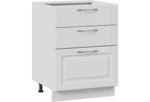 Шкаф напольный с 3-мя ящиками (СКАЙ (Белоснежный софт))