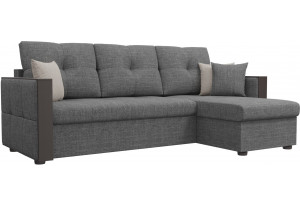 Угловой диван Валенсия Серый (Рогожка)