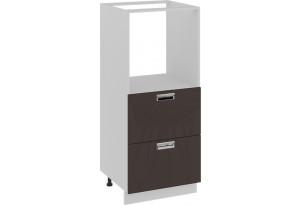 Шкаф комбинированный под бытовую технику с 2-мя ящиками БЬЮТИ (Грэй)