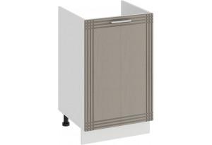 Шкаф напольный с одной дверями (под накладную мойку) «Ольга» (Белый/Кремовый)