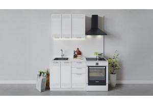 Кухонный гарнитур «Долорес» длиной 100 см (Белый/Сноу)