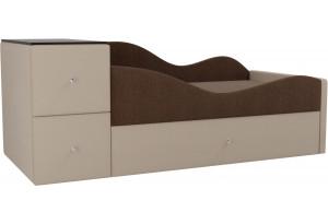 Детская кровать Дельта Коричневый/Бежевый (Рогожка)