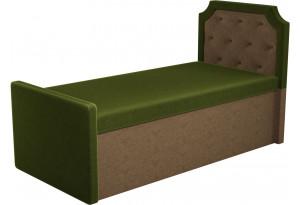 Кушетка Севилья зеленый/коричневый (Микровельвет)