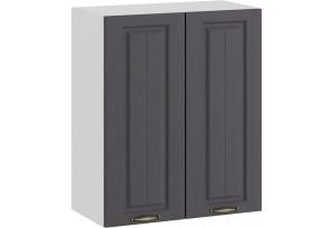 Шкаф навесной c двумя дверями «Лина» (Белый/Графит)