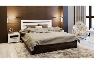 Спальный гарнитур «Фьюжн» №4 (Белый глянец, Венге Линум)