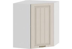 Шкаф навесной угловой «Лина» (Белый/Крем)
