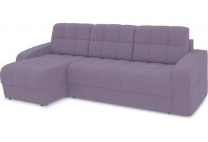 Диван угловой левый «Аспен Т1» (Neo 09 (рогожка) фиолетовый)
