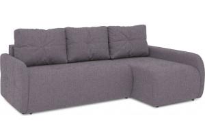Диван угловой правый «Томас Slim Т2» (Levis 68 (рогожка) Темно - фиолетовый)