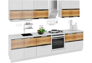 Кухонный гарнитур длиной - 300 см (со шкафом НБ) Фэнтези (Вуд)