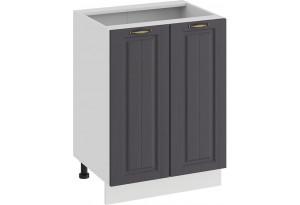 Шкаф напольный с двумя дверями «Лина» (Белый/Графит)