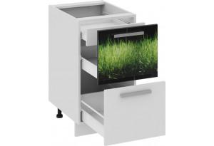 Шкаф напольный с 2-мя ящиками и 1-м внутренним ФЭНТЕЗИ (Грасс)
