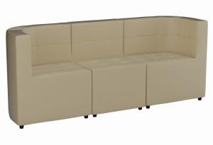 Модульный диван комплект Домино Бежевый (Экокожа)