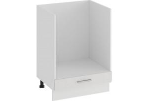Шкаф напольный под бытовую технику «Ольга» (Белый/Белый)