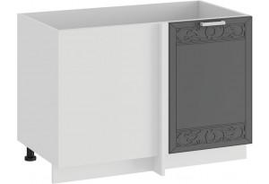Шкаф напольный угловой «Долорес» (Белый/Титан)
