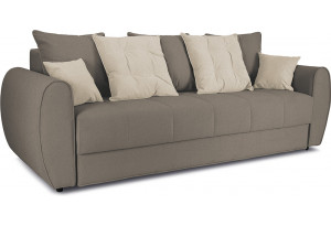 Диван «Бернард» Neo 04 (рогожка) светло-коричневый, подушка Neo 02 (рогожка) бежевый