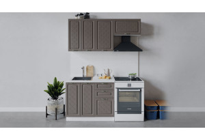 Кухонный гарнитур «Бьянка» длиной 160 см (Белый/Дуб серый)
