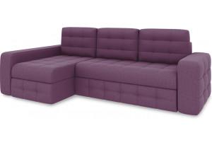 Диван угловой левый «Райс Т2» (Kolibri Violet (велюр) фиолетовый)
