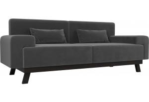 Прямой диван Мюнхен Серый (Велюр)