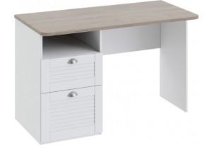 Письменный стол с ящиками «Ривьера» Дуб Бонифацио/Белый