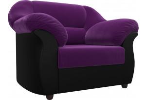 Кресло Карнелла Фиолетовый/Черный (Микровельвет/Экокожа)