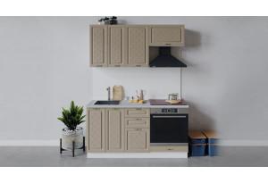 Кухонный гарнитур «Бьянка» длиной 160 см со шкафом НБ (Белый/Дуб кофе)