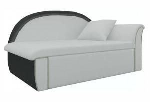 Кушетка Кипр-1 (Белый\Черный) Белый/Черный (Экокожа)