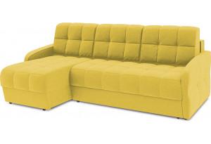 Диван угловой левый «Аспен Slim Т1» (Neo 08 (рогожка) желтый)