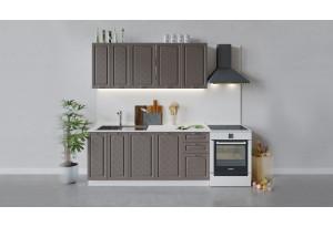 Кухонный гарнитур «Бьянка» длиной 180 см (Белый/Дуб серый)