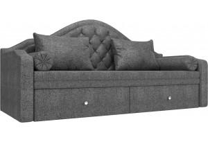 Прямой диван софа Сойер Серый (Рогожка)
