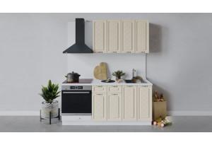 Кухонный гарнитур «Бьянка» длиной 180 см со шкафом НБ (Белый/Дуб ваниль)