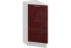 Шкаф напольный торцевой с одной дверью «Весна» (Белый/Бордо глянец)