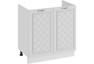 Шкаф напольный с двумя дверями (под накладную мойку) «Бьянка» (Белый/Дуб белый)