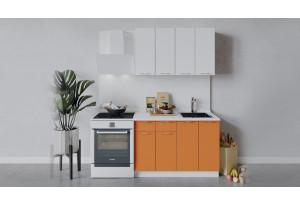 Кухонный гарнитур «Весна» длиной 120 см (Белый/Белый глянец/Оранж глянец)