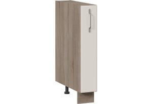Шкаф напольный с выдвижной корзиной (СКАЙ (Бежевый софт))