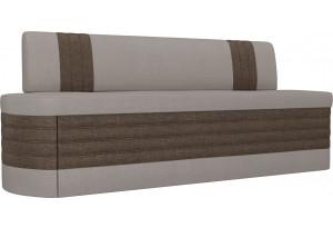 Кухонный прямой диван Токио бежевый/коричневый (Рогожка)