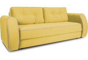 Диван «Хьюго» (Neo 08 (рогожка) желтый кант Neo 02 (рогожка) бежевый)