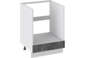 Шкаф напольный под бытовую технику с 1-м ящиком (ПРОВАНС (Белый глянец/Санторини темный))