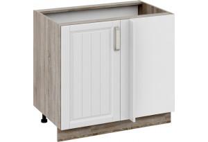 Шкаф напольный с планками для формирования угла Дуб Сонома трюфель/Крем