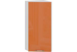Шкаф навесной торцевой «Весна» (Белый/Оранж глянец)