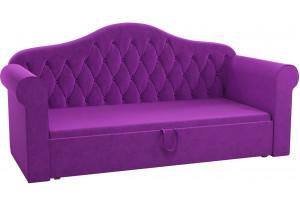Детская кровать Делюкс Фиолетовый (Микровельвет)