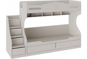 Кровать 2-х ярусная с приставной лестницей «Сабрина» Кашемир
