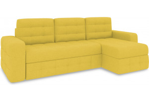 Диван угловой правый «Райс Т1» (Neo 08 (рогожка) желтый)