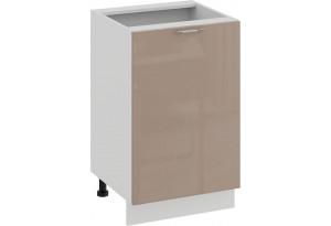 Шкаф напольный с одной дверью «Весна» (Белый/Кофе с молоком)