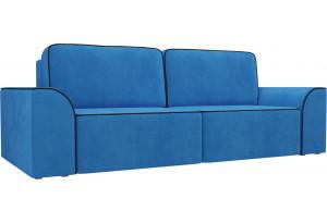 Прямой диван Вилсон Голубой (Велюр)