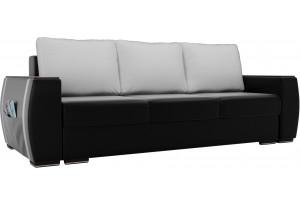 Прямой диван Брион Черный (Экокожа)