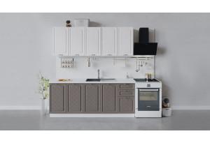 Кухонный гарнитур «Бьянка» длиной 200 см (Белый/Дуб белый/Дуб серый)